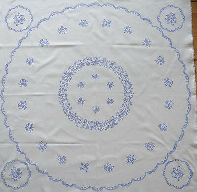 "Kalocsa pattern print from Hungary New 34'' round table top + 4 5"" doilies DIY a for sale  Long Beach"