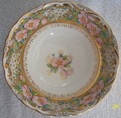 China Dish. Victorian Design. Gold Decoration.Beautiful Bowl. Kept in Cabinet