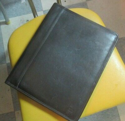 Dark Brown Coach Business Leather Organizer Pad Portfolio Folder Legal Pad Size