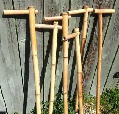 100% Bamboo Vintage Natural Hard Wood Men's Walking Aid Mobility Cane  ()