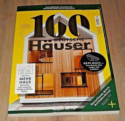 100 DEUTSCHE HÄUSER 2017/18 Architektur-Kultur u. Kult-Architektur ungelesen