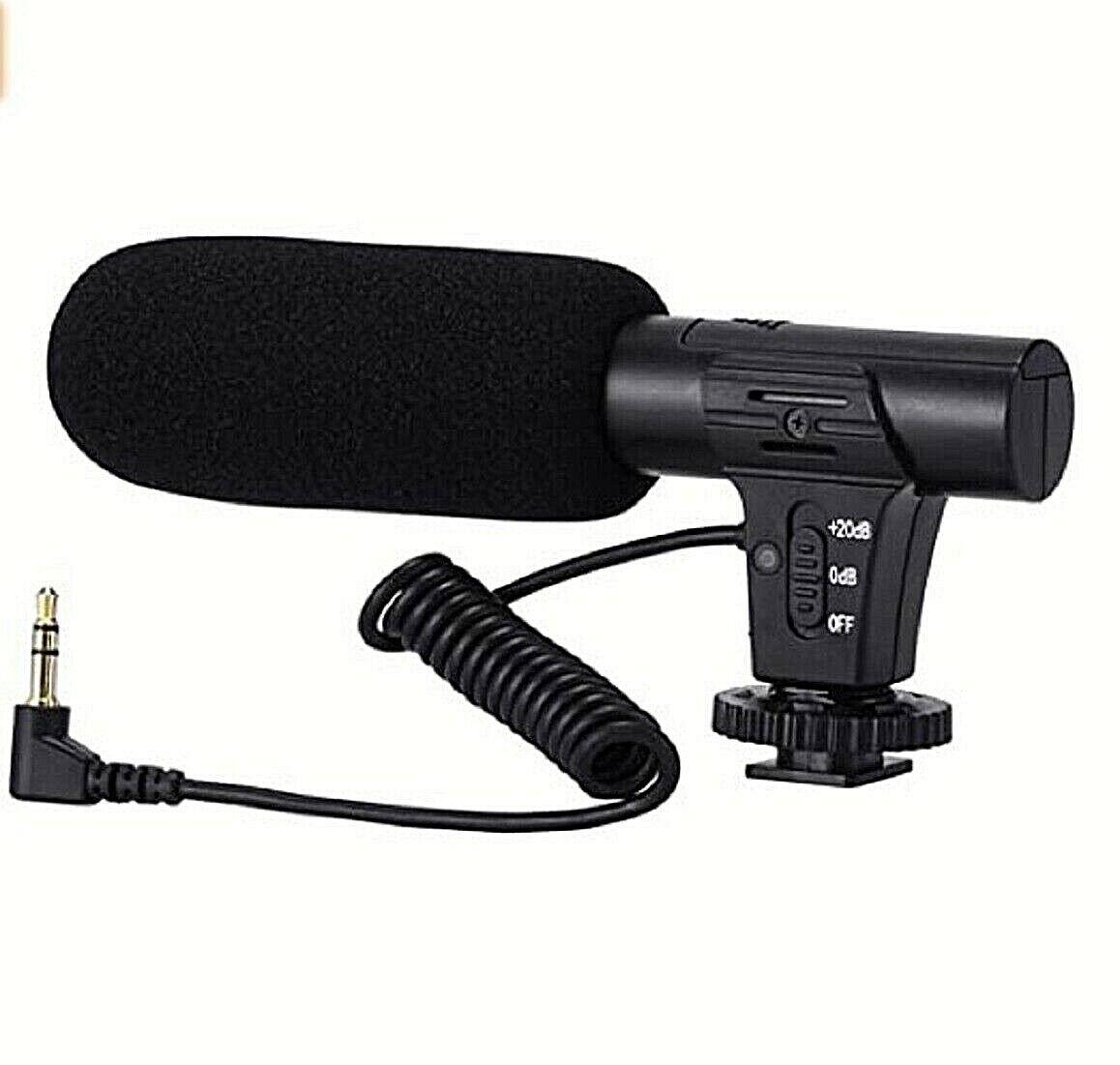 Video Microphone Camera Microphone for Canon, Sony, Nikon, DSLR Camera/DV 3.5 mm Camera, Drone & Photo Accessories