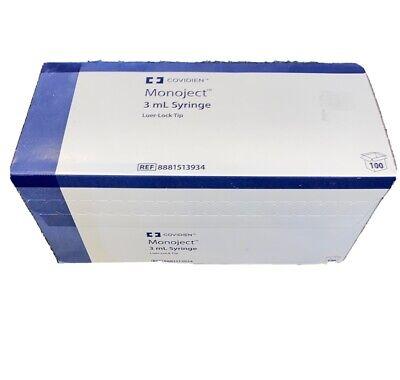 Coviden Monoject 3 Ml Syringe 100 Count