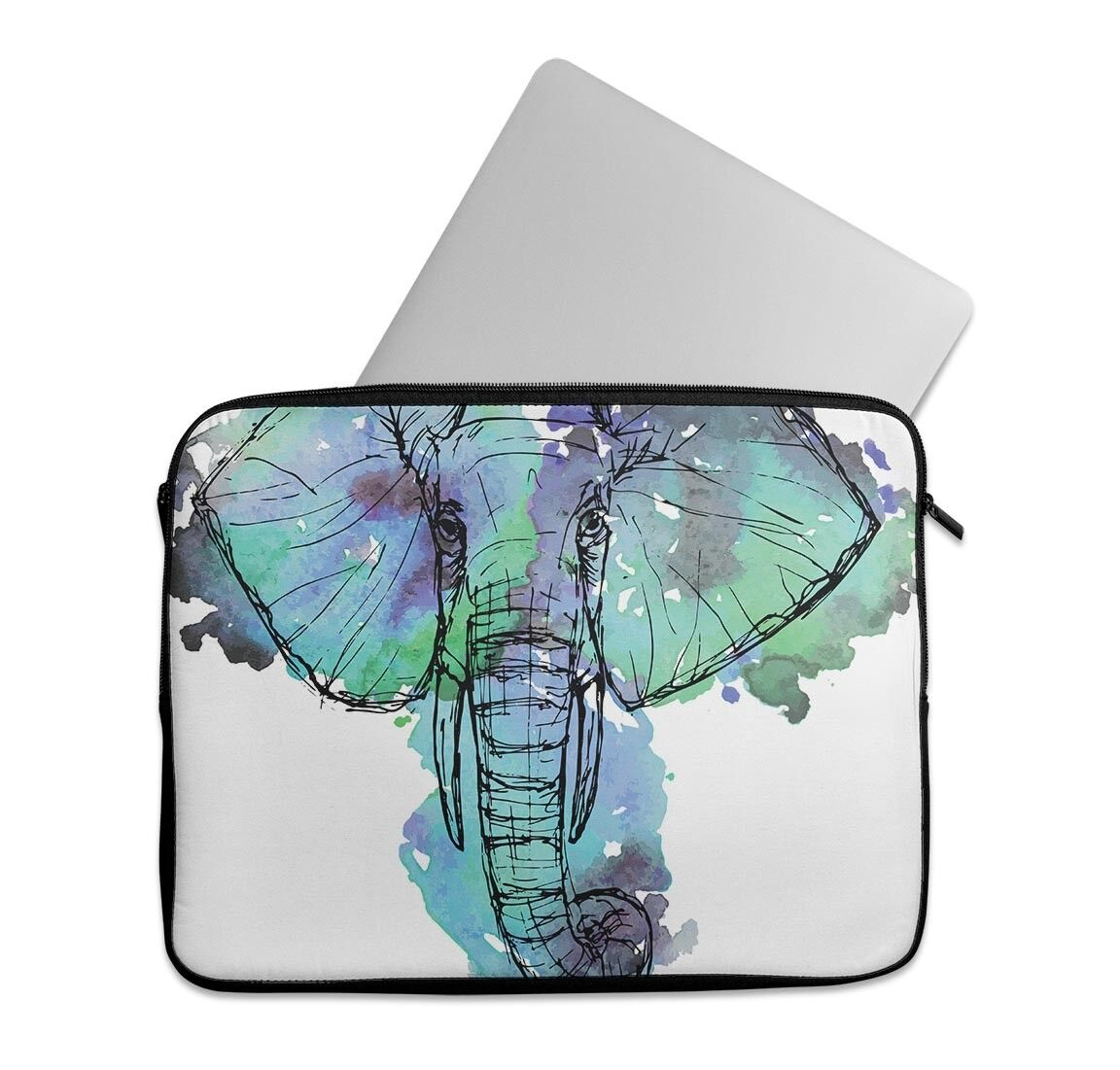 EmbraceCase Ink-Fuzed Neoprene Laptop Sleeve with African Sk