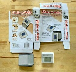 SHAKE-N-WAKE Silent Vibrating Alarm Wrist Watch Box opened never used