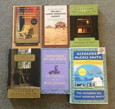 Lot/Set of 6x ALEXANDER McCALL SMITH No. 1 Ladies Detective Agency Compliments