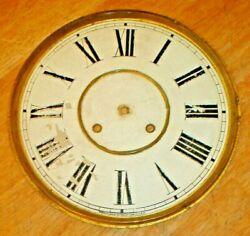 Antique Waterbury Large Long Drop Regulator Wall Clock Dial / Face Original Part