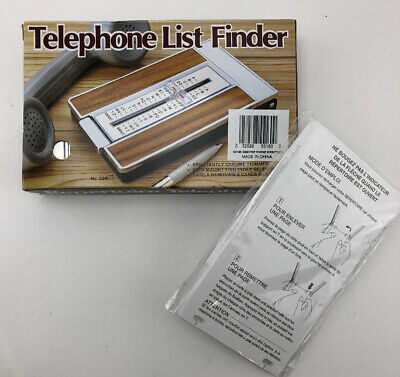 Vintage New 329b Telephone List Finder Flip Phone Directory Rolodex With Refill