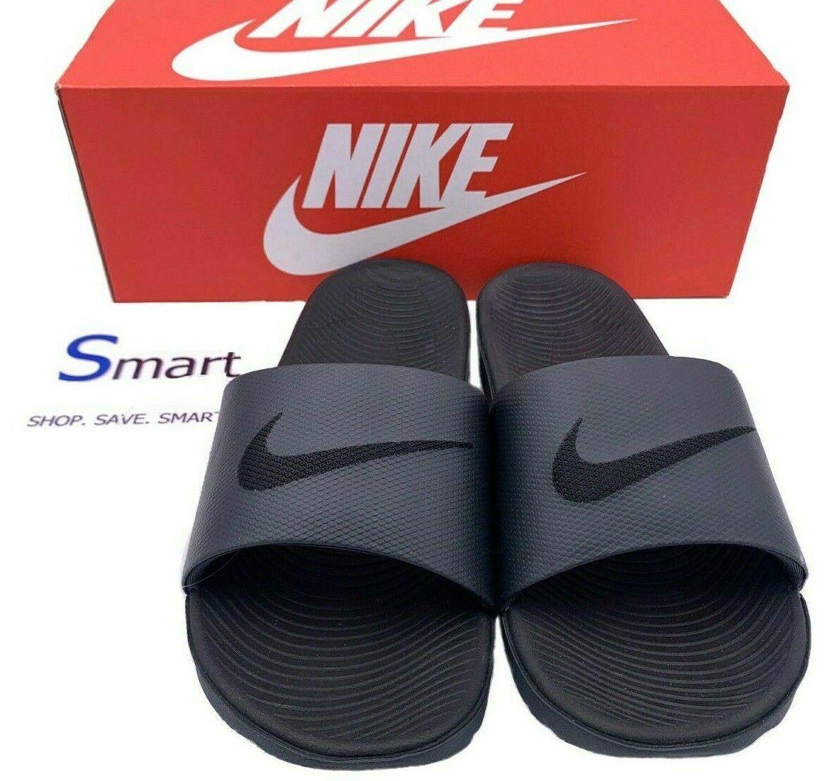 NIB SIZE 7-13 MEN Nike Air Kawa Slides Sandals Logo Swoosh B