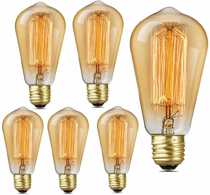 edison light bulbs 60 watt st64 amber