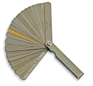 Dual Reading 32 Blade Feeler Thickness Spark Plug Gauge MM AF