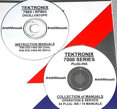 Tektronix Ops Service Manuals For 7903 R7903 Oscilloscope 54 Plug-ins