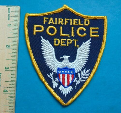 OLDER FAIRFIELD IOWA POLICE DEPARTMENT PATCH