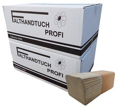 10000x Falthandtücher Papierhandtücher 25x23cm Handtuchpapier 1-lagig ZZ-Falz