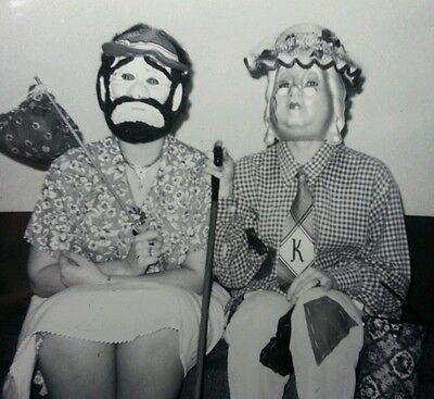Music Halloween Photos (VINTAGE FUN HALLOWEEN UNUSUAL MASKS HOBO GIRLS DOWN ON THEIR LUCK 1964)