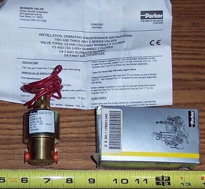 Parker Skinner Valve Pn C5dk1175 Dc11ad 12vdc Solenoid Valve New Open Box