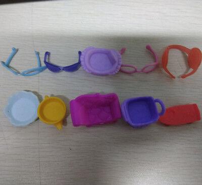 10pcs Littlest Pet Shop LPS Accessories Glasses Bed Bathtud Sateboard Sofa - Littlest Pet Shop Plates