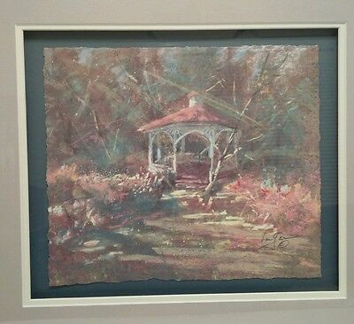 Beautiful Original Pastel by Well Listed Artist Len Garon (1945- ) signed