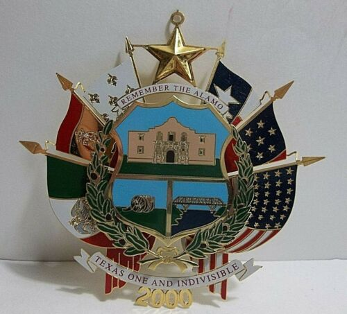 2000 TEXAS State CAPITOL Christmas Tree Ornament REVERSE SEAL