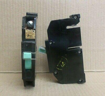 Zinsco Type T T30 1 Pole 30 Amp 240v Green Handle Circuit Breaker