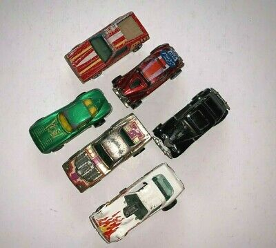 Hot Wheels Vintage Lot of 6 Cars 1970's