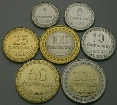 EAST TIMOR 1 Centavo / 200 Centavos 2003/2017 - Lot of 7 Coins - UNC *
