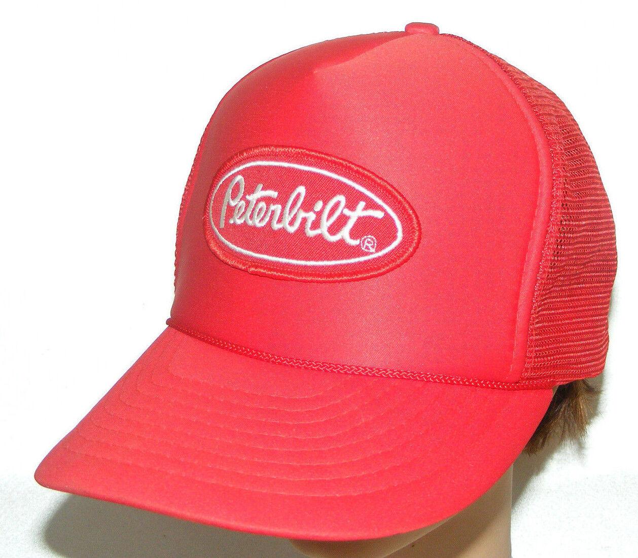 Vintage Peterbilt Snapback Trucker Mesh Red Cap Ha
