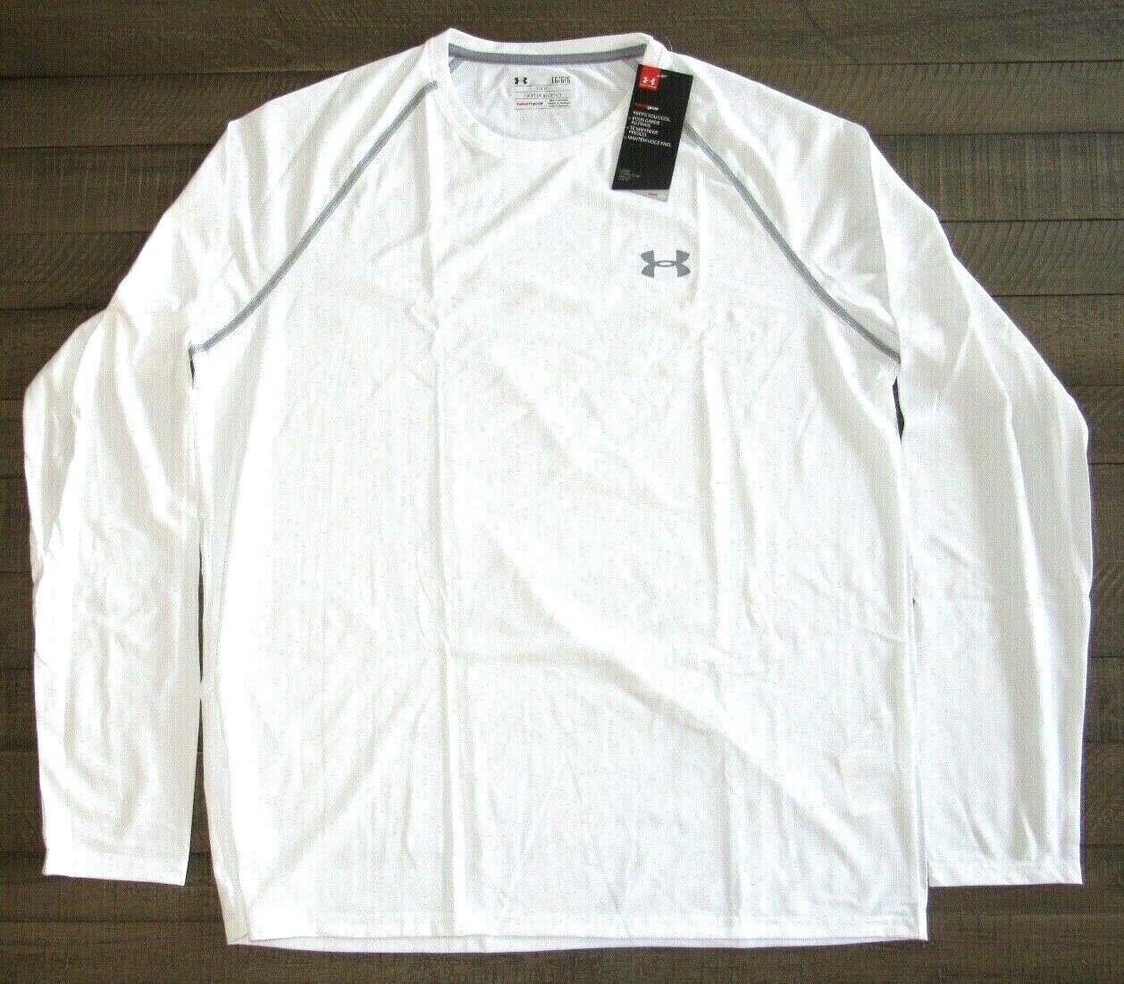 Under Armour Men's Long Sleeve Tech Tee Shirt  1264088  Whit