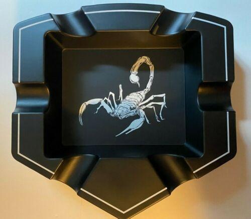 Camacho Cigars Scorpion Badge Black Ashtray