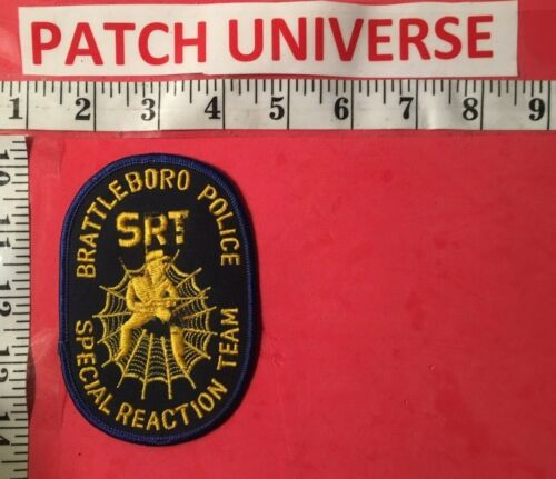 BRATTLEBORO VT POLICE SPECIAL REACTION TEAM  SHOULDER PATCH  USED  0139