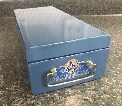 Vintage Pilot Life Insurance Company Metal Safe Deposit Box w/ Combination Lock