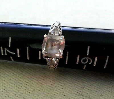 TACORI Diamonique Epiphany  3 Stone ENGAGEMENT RING/Anniversary SZ 8