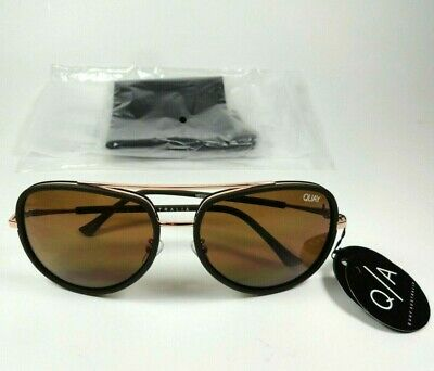 New QUAY Australia Needing Fame Chocolate / Brown Womens Aviator (Quay Needing Fame)