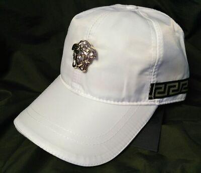 Casual Baseball Hat VERSACE Logo Cap Unisex NWT