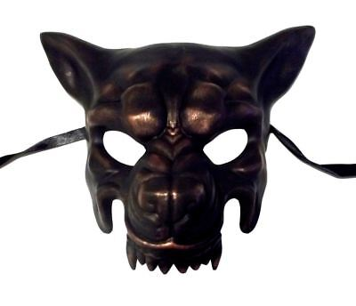 Scary Copper Wolf Masquerade Party Halloween Mask by KBW](Scary Halloween C)