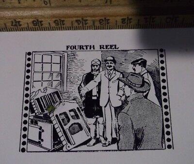 Antique Fourth Reel Advertising Zinc Cut Printing Block Letterpress Vintage