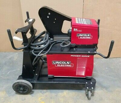 Lincoln Electric Power Wave S350 12793 Mig Welder W Power Feed 84 12708 W Cart