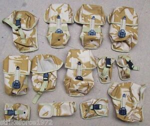 BULK-BUY-Complete-Set-of-THIRTEEN-Desert-Osprey-MOLLE-Webbing-Pouches-NEW