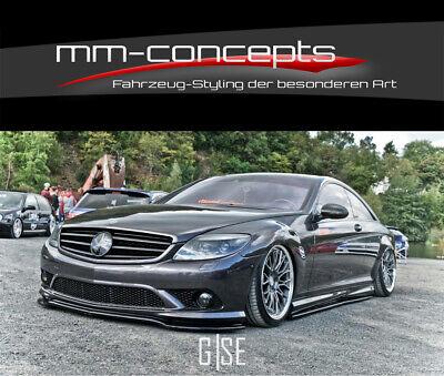 Cup Spoilerlippe SCHWARZ für Mercedes CL C216 AMG Spoilerschwert Frontspoiler