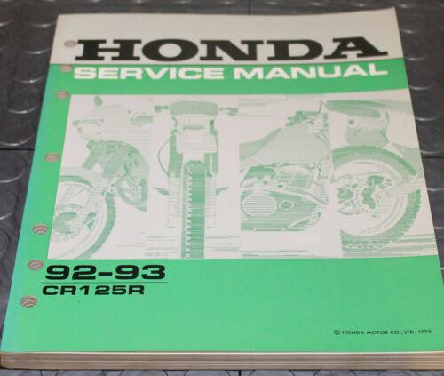 NOS OEM Honda Service Shop Manual NEW 92-93 CR125R CR 125 R
