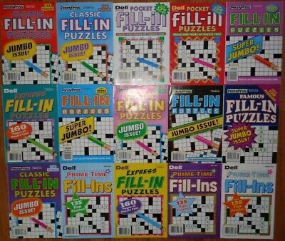 Lot of 2 Penny Press Fill-Ins Puzzle Books Unsorted