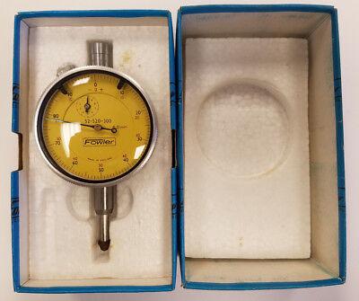 Fowler 52-520-300 10mm Range .01mm Grad Dial Indicator 5a-c0016