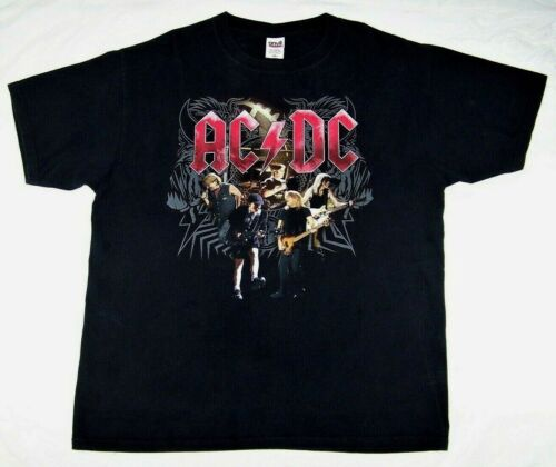 AC/DC Black Ice Band Concert Tour 2008-2009 Heavy Metal T-Shirt XL HARD TO FIND