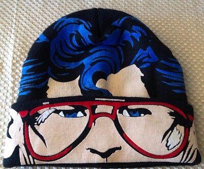 Down Beanie (Superman Flip-Down Beanie with Reveal See-Through Mesh Mask Super)