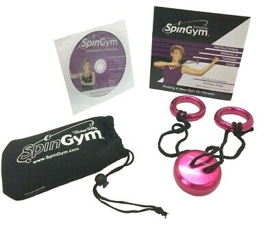 Forbes Riley SpinGym Upper Body Training Home Gym Workout Arm Bands DVD Pink
