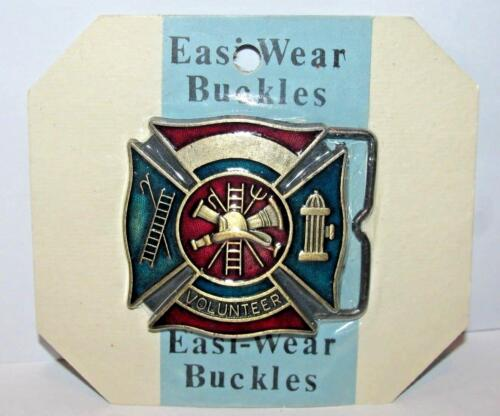 Volunteer Fire Department Firefighter Fireman Logo Belt Buckle Easi-Wear Sealed!