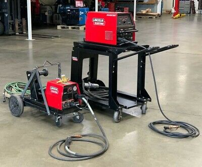 Lincoln Electric Invertec V350-pro Welder Feeder Lf-74 W Carts