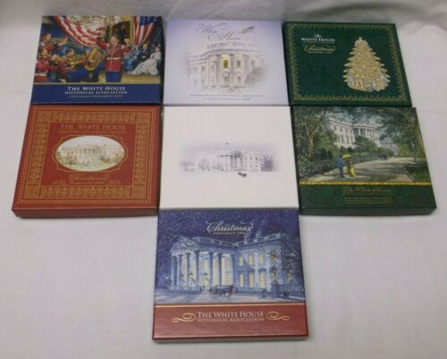 Group White House Ornaments 2004 to 2010