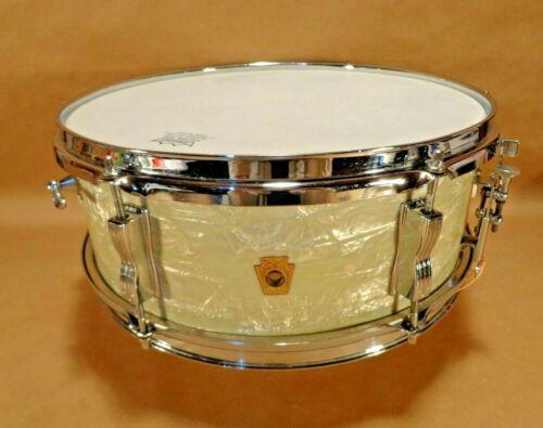 """LUDWIG Pioneer Snare Drum 65 Keystone Marine Pearl finish 5""""x14"""" 6 Lug Vintage"""