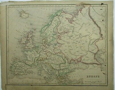 Antique Map of Europe by William & Robert Chambers 1845